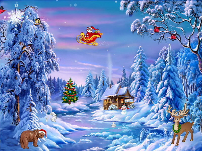 Free Christmas Screensaver - Christmas Symphony - FullScreensavers.com